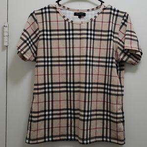 Women's Burberry Nova Check Shirt Size Large